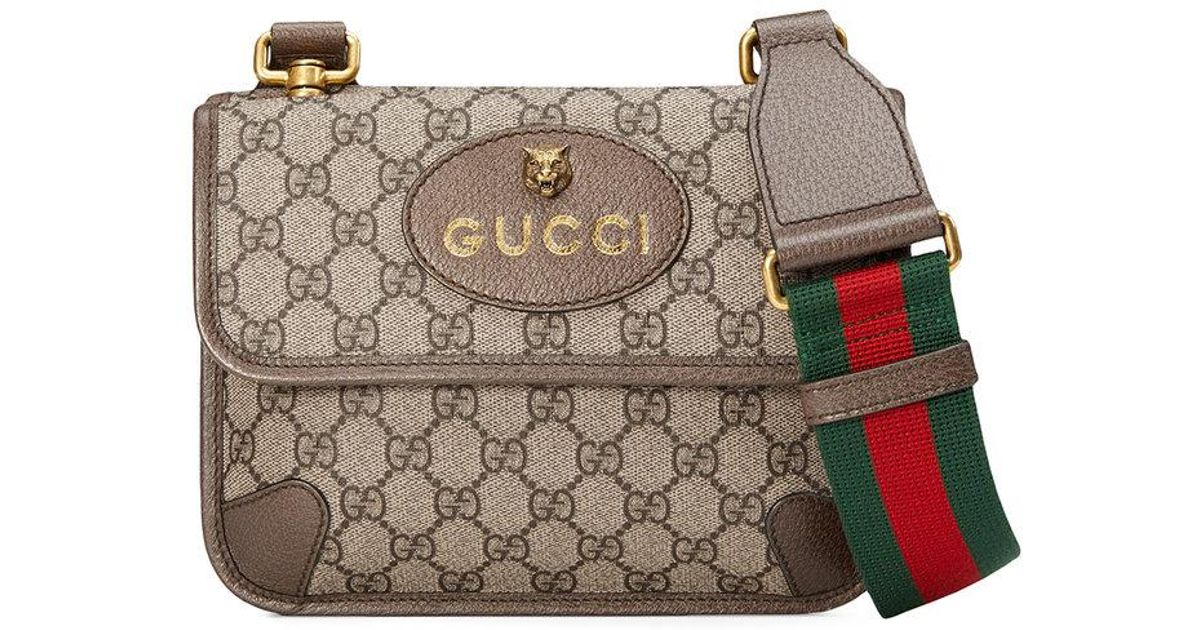 a6633bf0ac9 Lyst - Sac porté épaule à imprimé Suprême GG Gucci pour homme