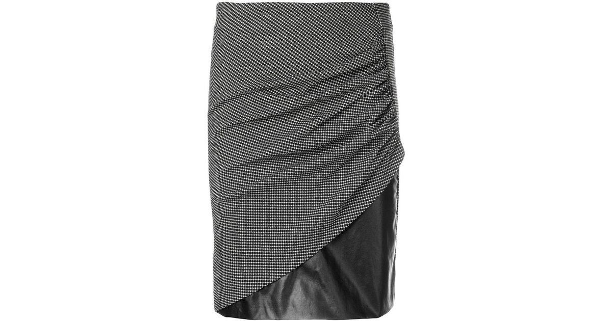 0fb9b8f9209 Lyst - Pinko Folded Pencil Skirt in Black