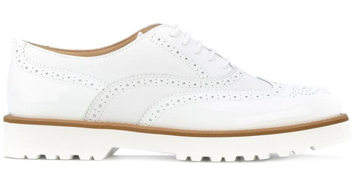 d59c3f323e01 Lyst - Hogan Lace-up Brogues in White