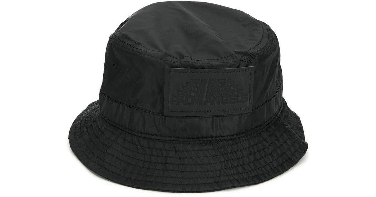 5d40e376 Lyst - Palm Angels Logo Patch Bucket Hat in Black for Men
