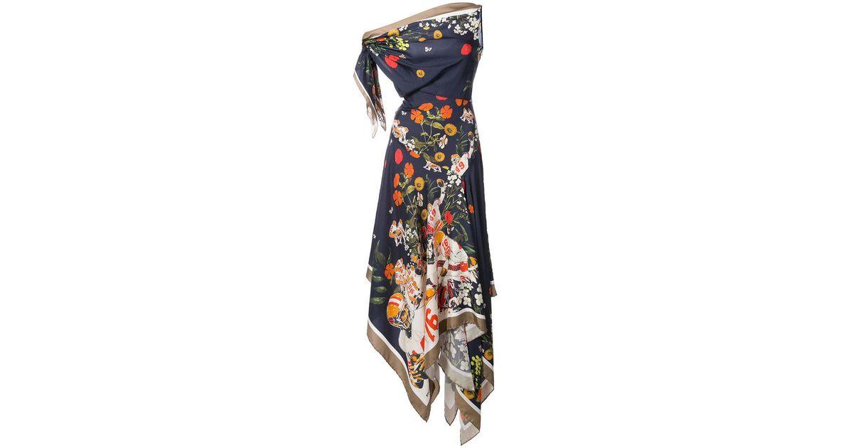 floral print handkerchief dress - Multicolour Monse 2ZmhXX