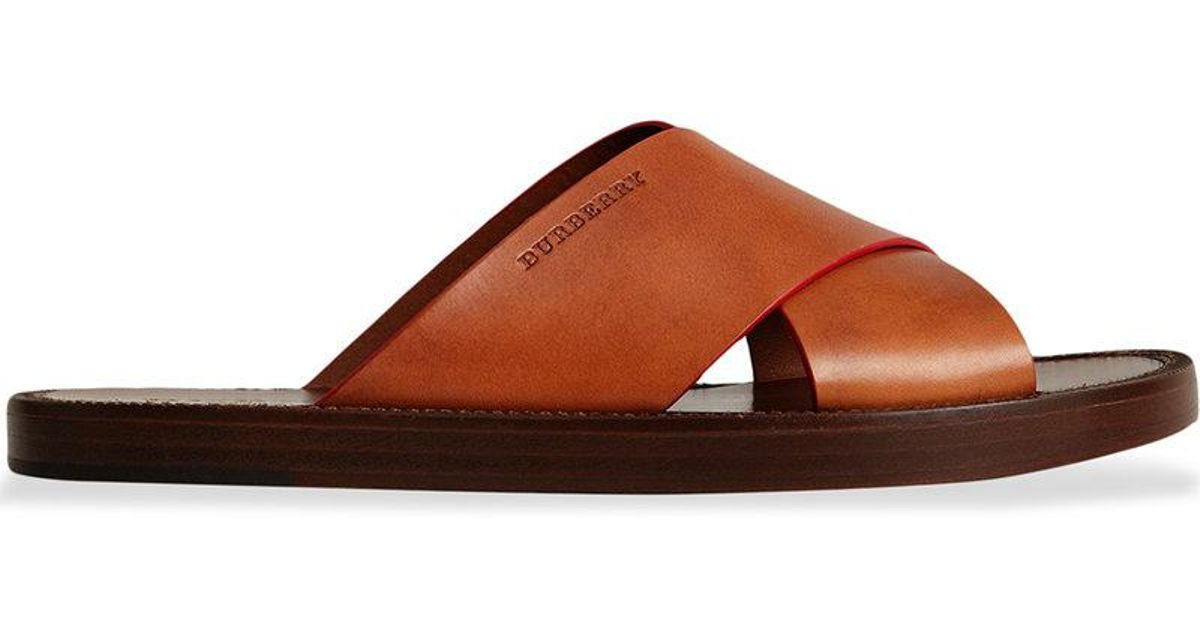 contrast detail leather sandals - Brown Burberry Footlocker Pictures For Sale U9QI18B
