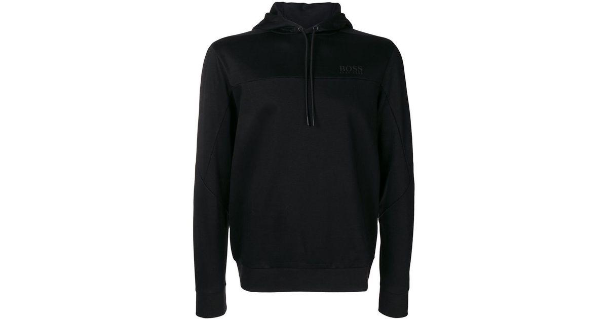 13d7878ab BOSS Soultech Hoodie in Black for Men - Lyst
