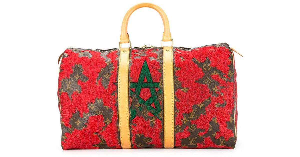 d54782bc8971 Lyst - Jay Ahr Morocco Flag Vintage Louis Vuitton Keepall in Red