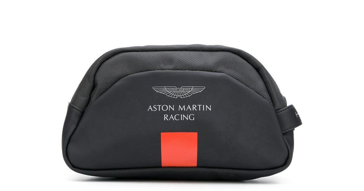 Hackett Aston Martin Racing Wash Bag In Black For Men Lyst
