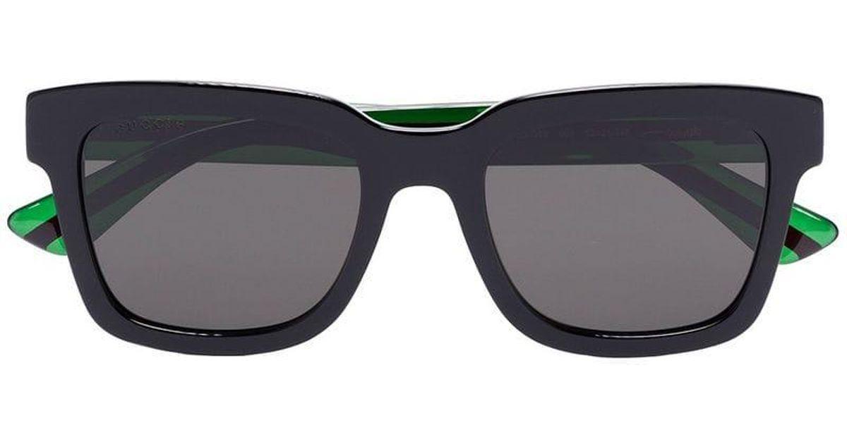 5ec9c2961f Gucci Black Two-tone Tinted Square Sunglasses in Black for Men - Lyst
