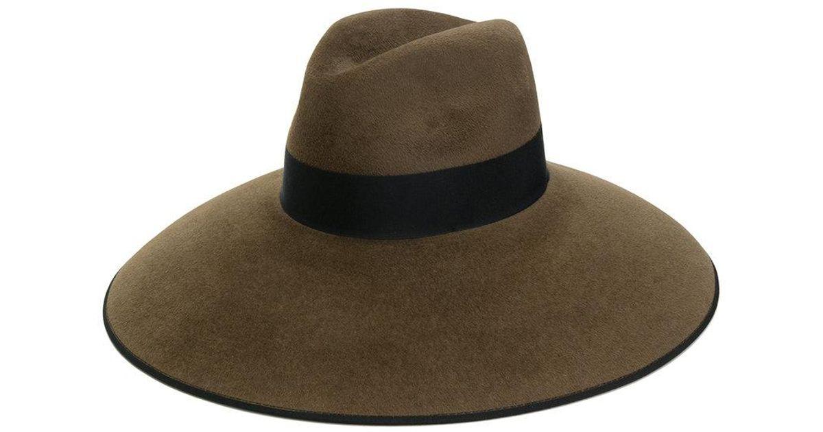 9d178b62abfa6a Lyst - Gucci Rabbit Felt Wide Brimmed Hat in Brown for Men