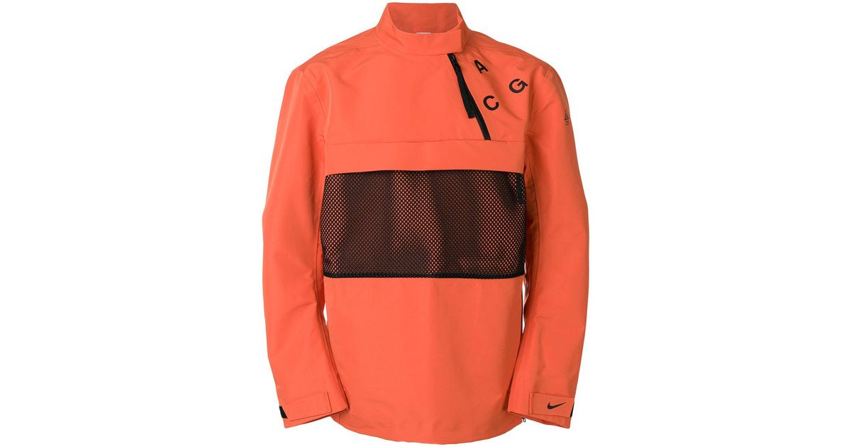 88df25ecee52 Lyst - Nike Lab Acg Pullover Shell Jacket in Orange for Men