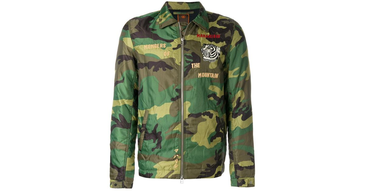 Lyst maharishi world tour camouflage jacket in green for men gumiabroncs Image collections