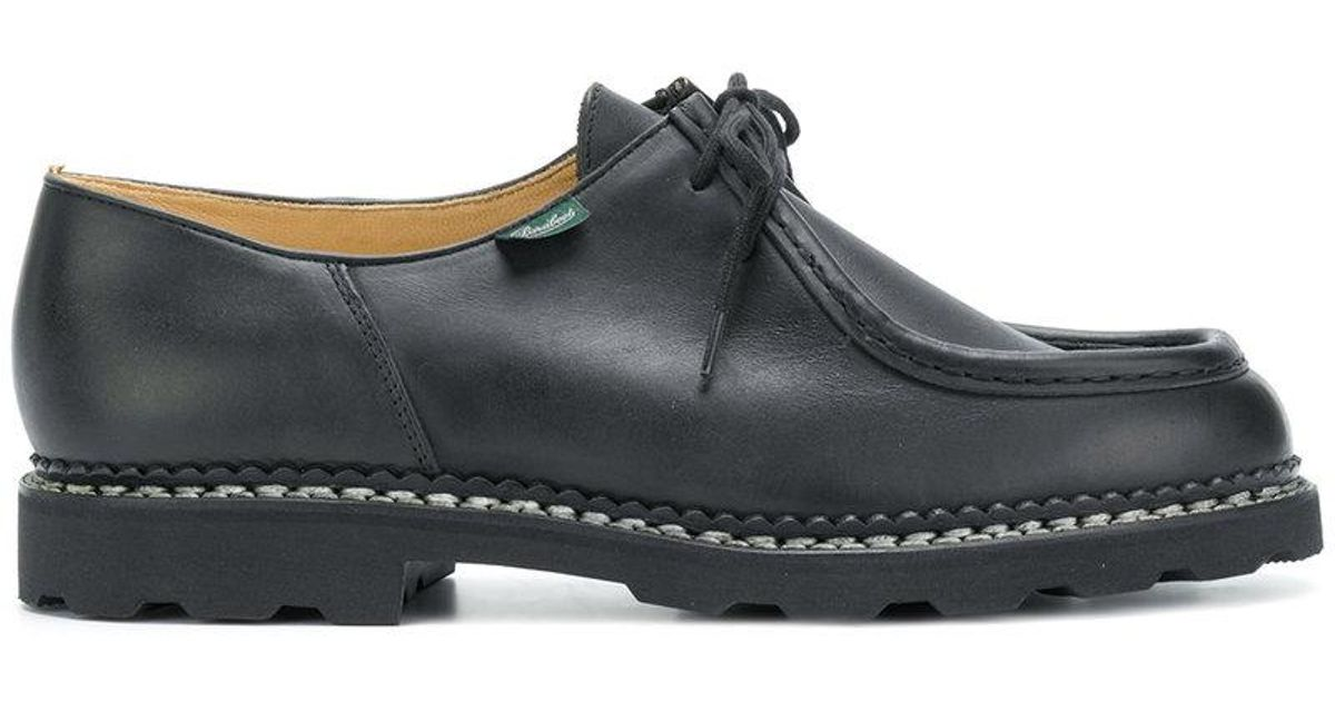 Paraboot Leather Lace Up Loafers in