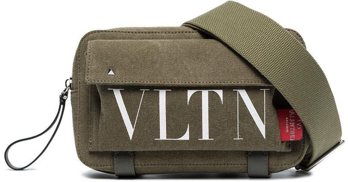 2f3b144b438e2 Valentino Green Vltn Logo Cross Body Bag in Green for Men - Lyst