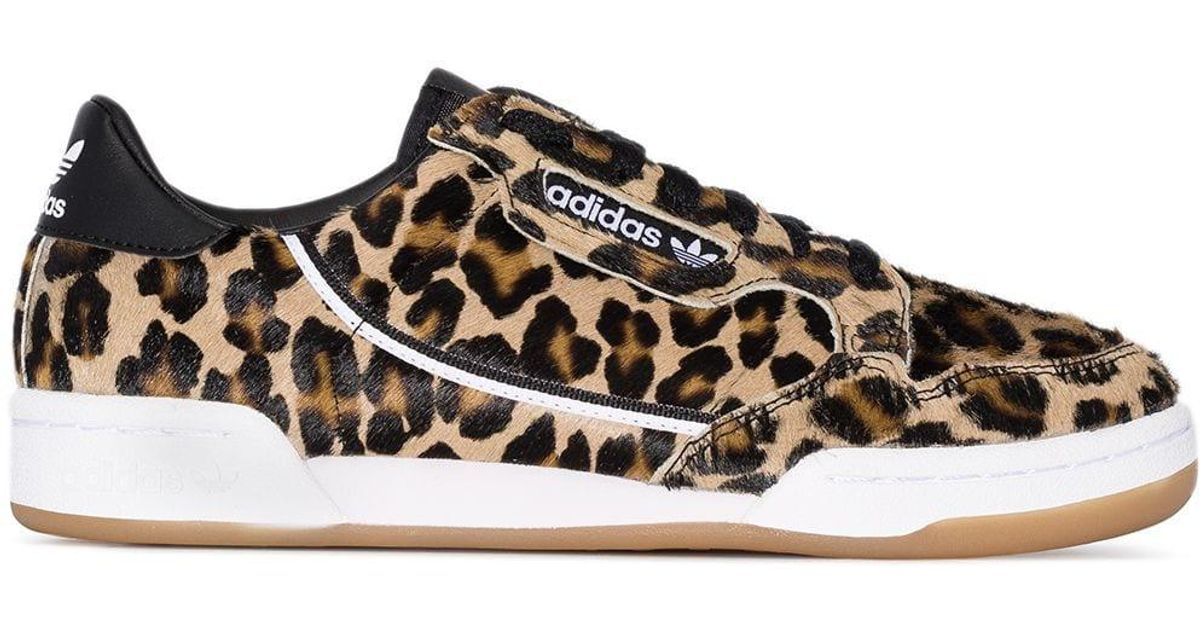Adidas Multicolor Continental Leopard Print Low-top Sneakers
