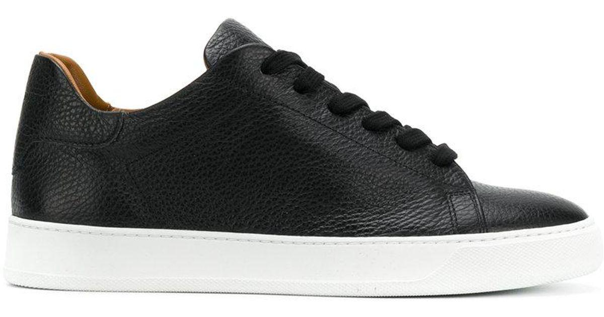 Noir Dioniso Pebbled Top Sneakers Milieu 77qzcI0LRz