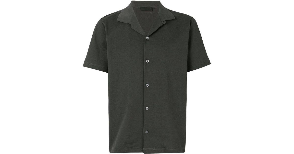 012d9a8f Prada Gray Open Collar Bowling Shirt for men