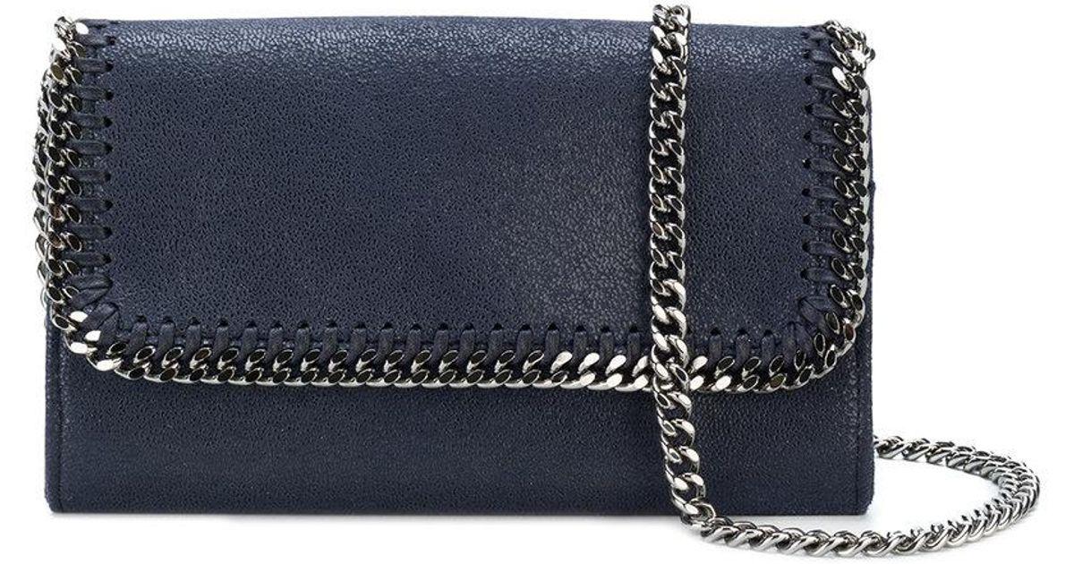Lyst - Stella McCartney Falabella Shaggy Deer Crossbody Bag in Blue 66c5aefc337fd