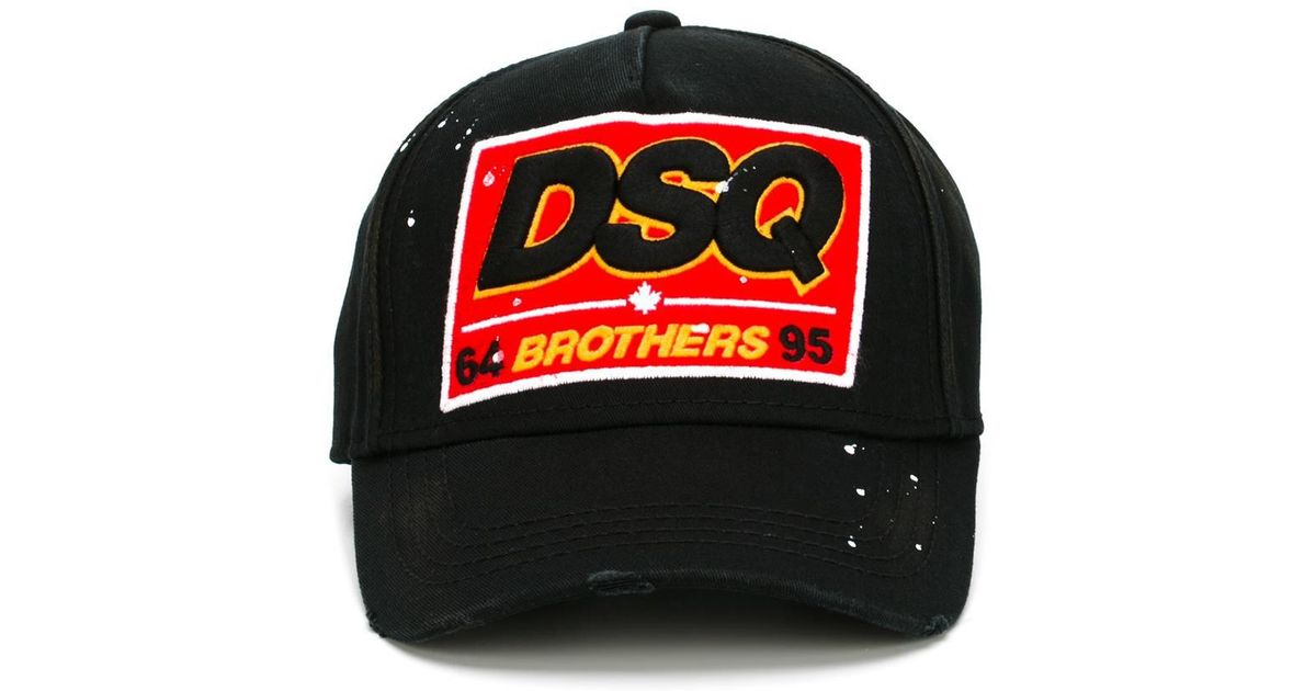 Lyst - DSquared² Brothers Baseball Cap in Black for Men 681beb21afa