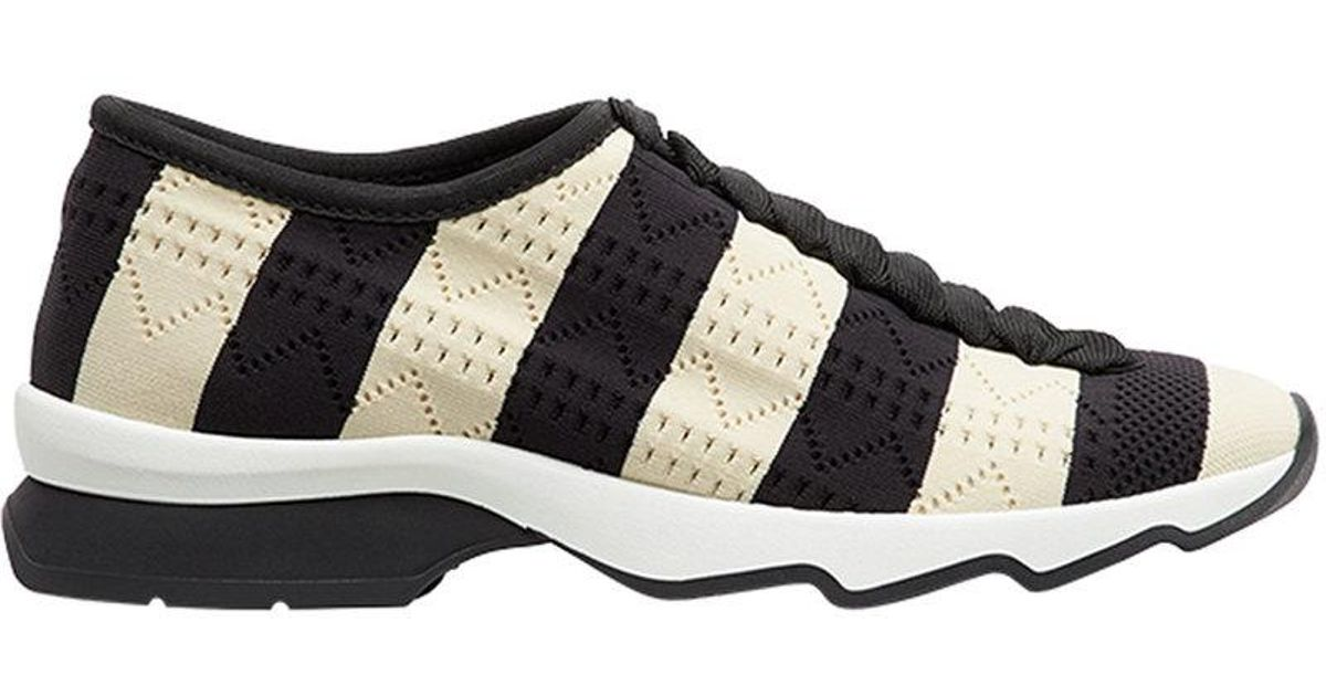 striped open work sneakers - Black Fendi Rdbv696