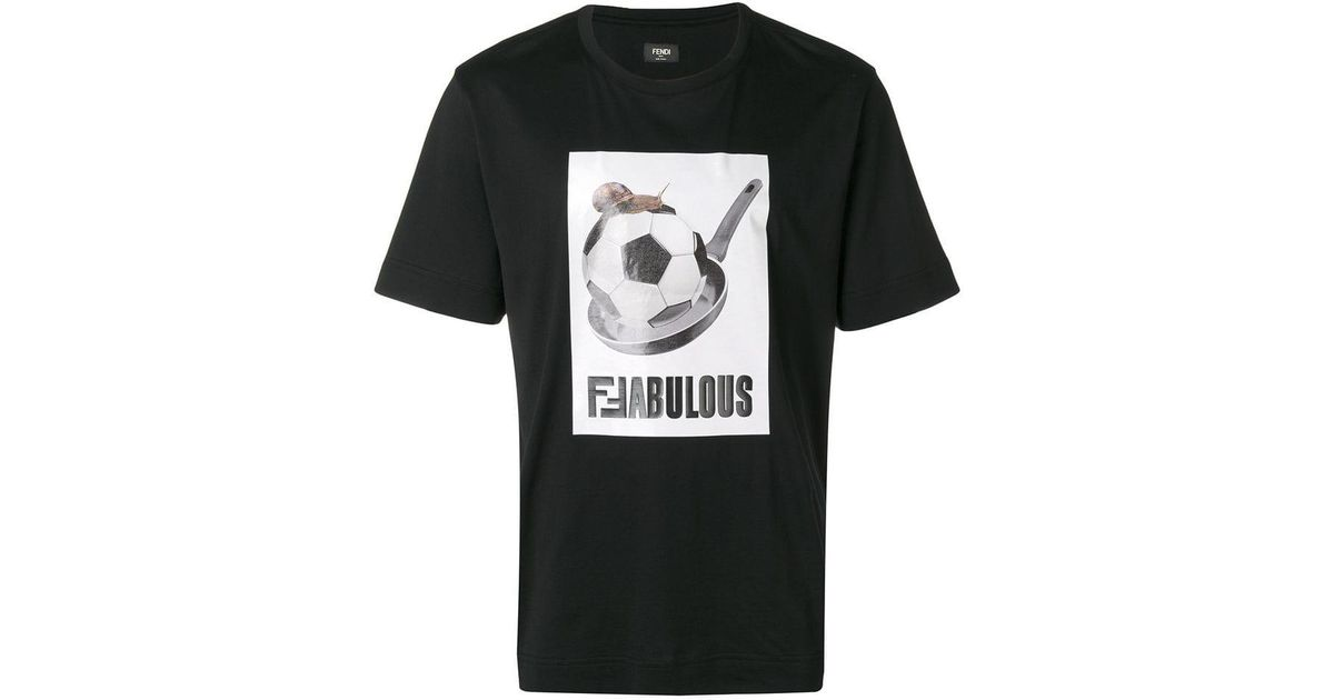 Fendi Football T-shirt in Black for Men - Lyst 82d4059645c