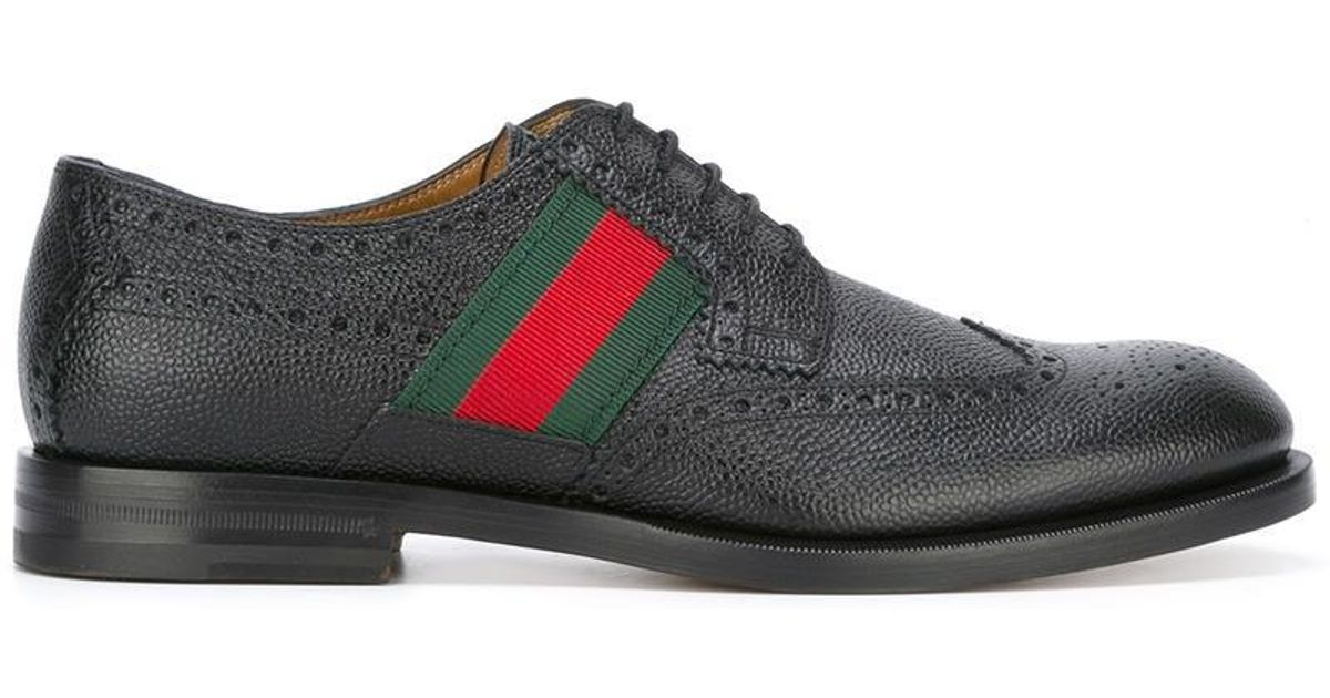 Gucci Leather Strand Wingtip Oxford