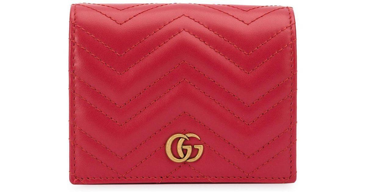 b69ccdbab Cartera GG Marmont Gucci de hombre de color Rojo - Lyst