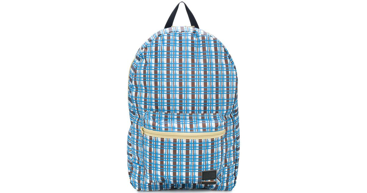 linear checked backpack - Blue Marni Outlet Shopping Online GCtYt