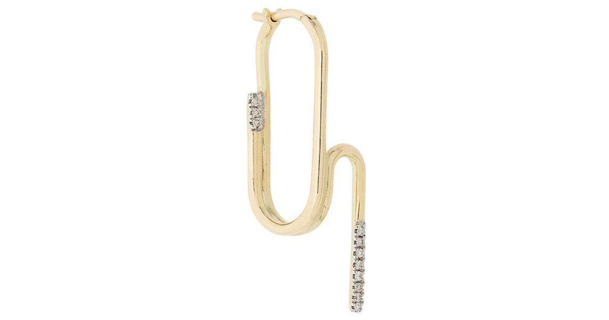 Maria Black Abyss diamond earring - Metallic JPaBhk