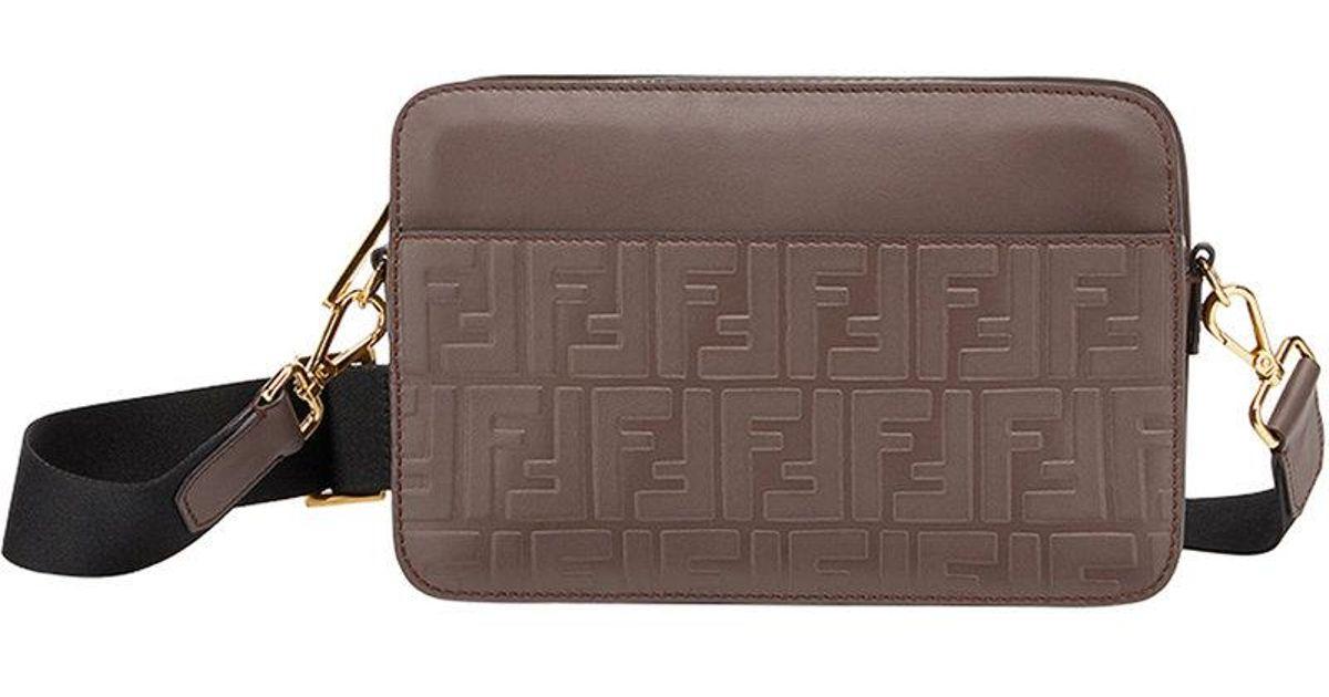 decb7746130 Fendi Monogram Crossbody Bag in Brown for Men - Lyst