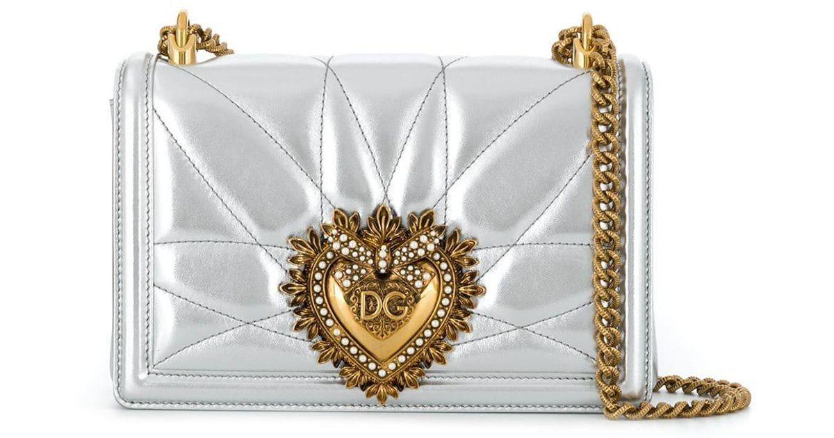 Sac Devotion Dolceamp; Épaule Gabbana Coloris Metallic Porté En L5A4Rj3q
