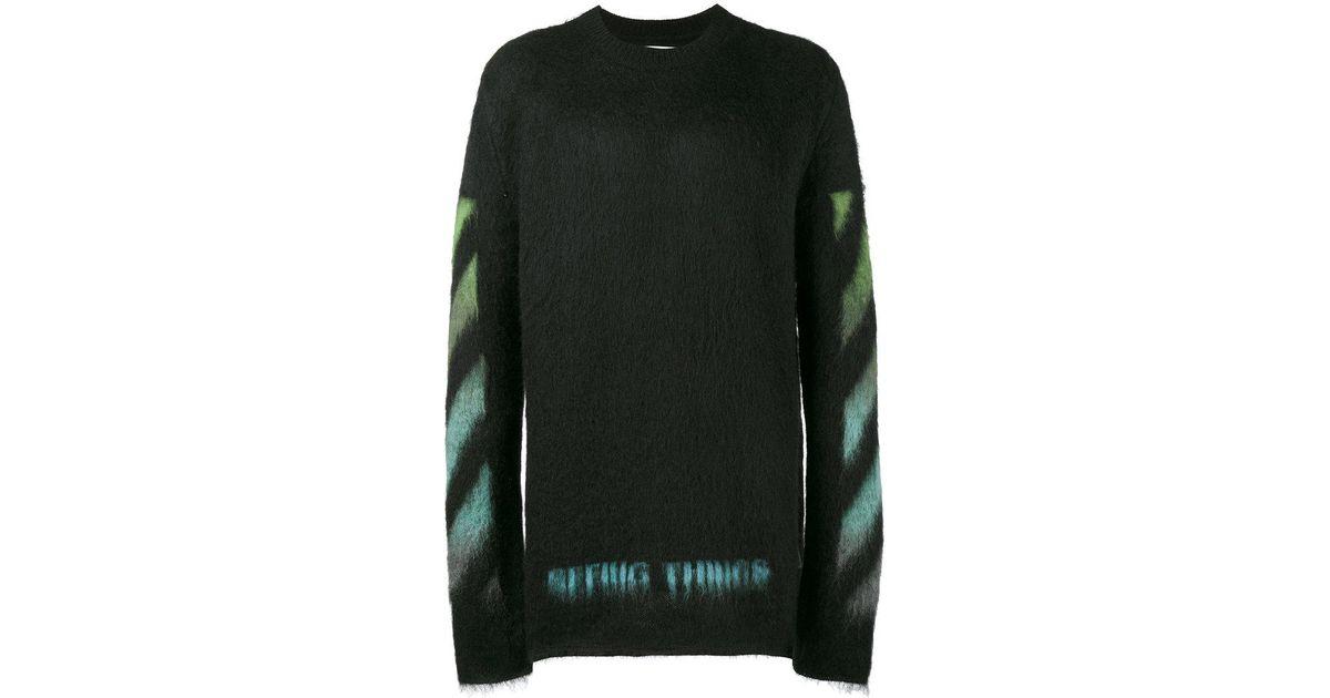 f27bd6ac Off-White c/o Virgil Abloh Brushed Arrows Sweater in Black for Men - Lyst