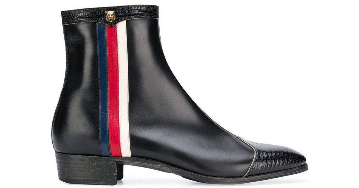 6dff5147a2d Gucci Ankle Boots in Black for Men - Lyst
