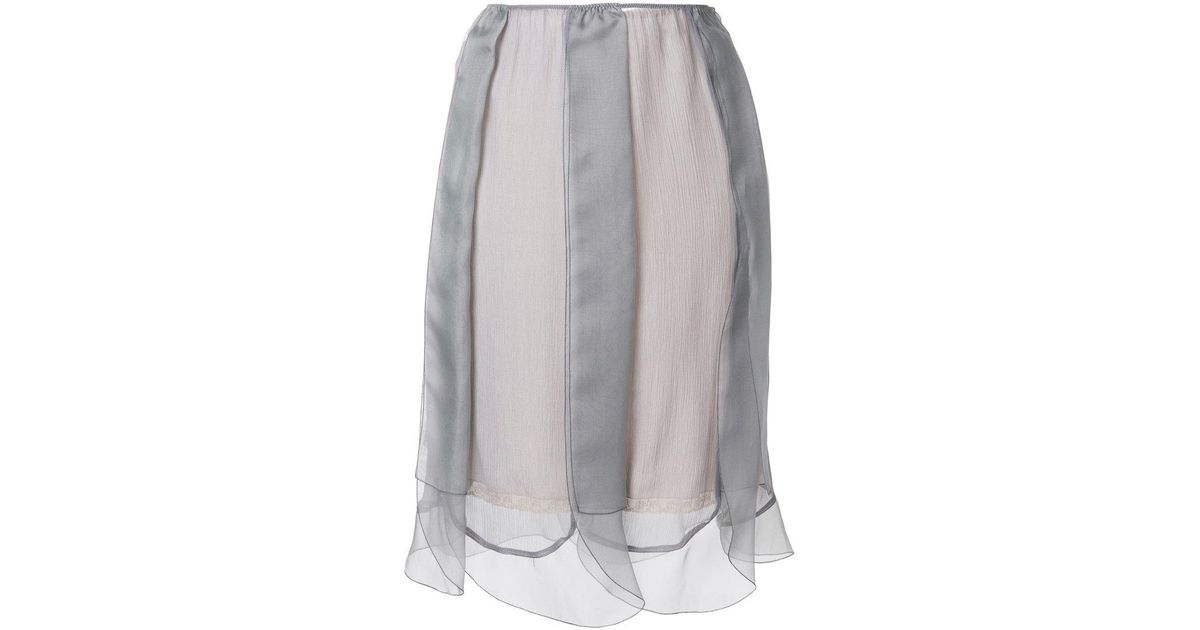 layered tulle slip skirt - Grey Prada Free Shipping Official Site All Seasons Available Buy Cheap Footaction Looking For For Sale dydR8AE