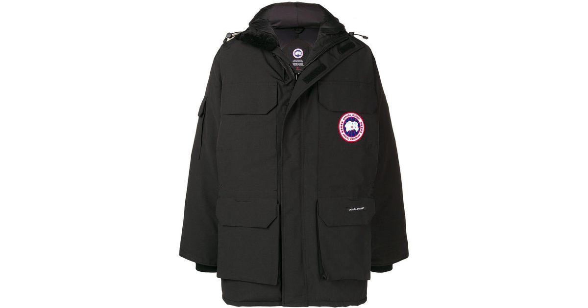 6e680514c Canada Goose Black Expedition Fusion Fit Parka for men