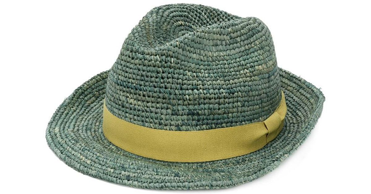c0cfebe18c9f7 Lyst - Paul Smith Woven Hat in Green for Men