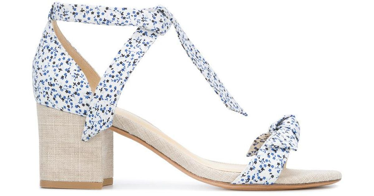 In China Cheap Online Clarita printed ankle-tie sandals - White Alexandre Birman Sale Find Great Real Online Free Shipping Prices 9zwYe
