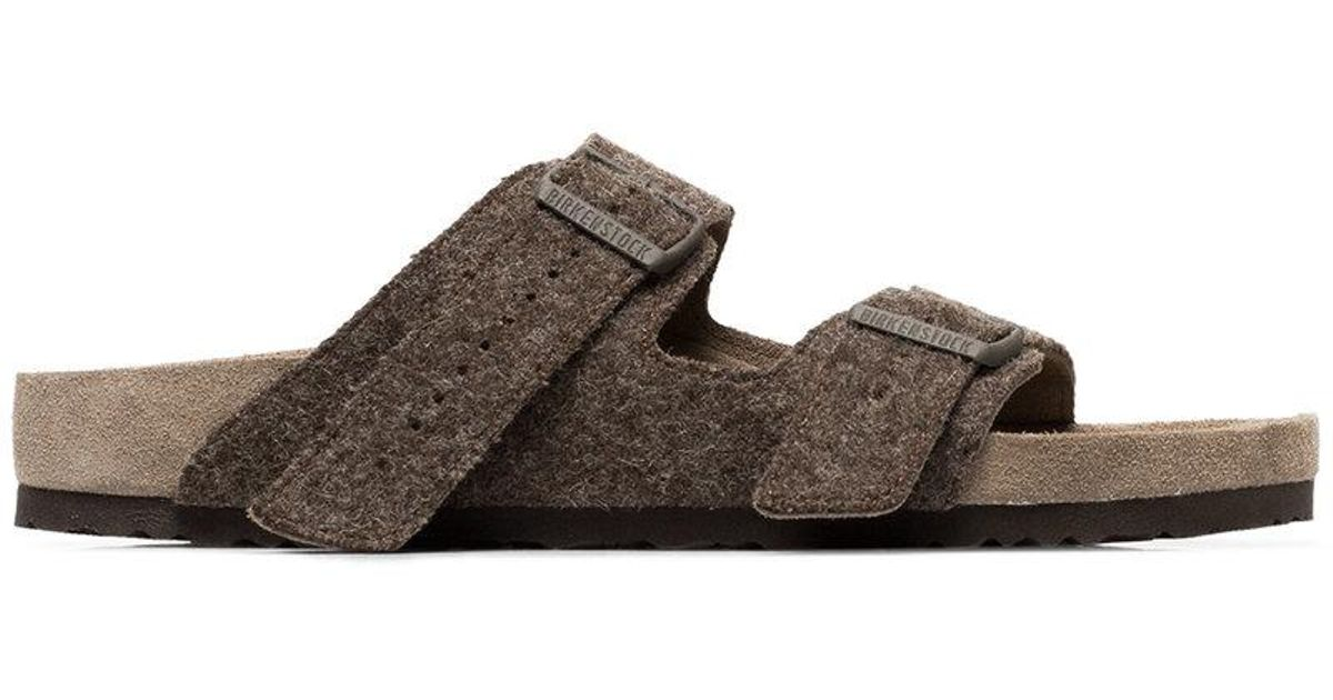 f72b7447293fca Lyst - Rick Owens X Birkenstock Brown Arizona Wool Felt Sandals in Brown  for Men