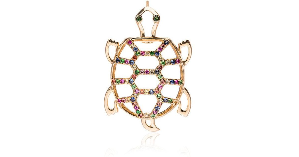 Yvonne Léon Gold Tortoise Diamond Earring - Metallic zVG7D