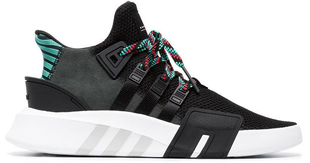watch 177a8 1dbe9 Adidas - Black Eqt Bask Adv Lace-up Sneakers for Men - Lyst