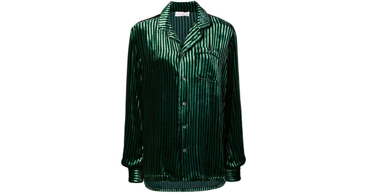 32690edd9710 Faith Connexion Striped Single Pocket Shirt in Green - Save 4% - Lyst