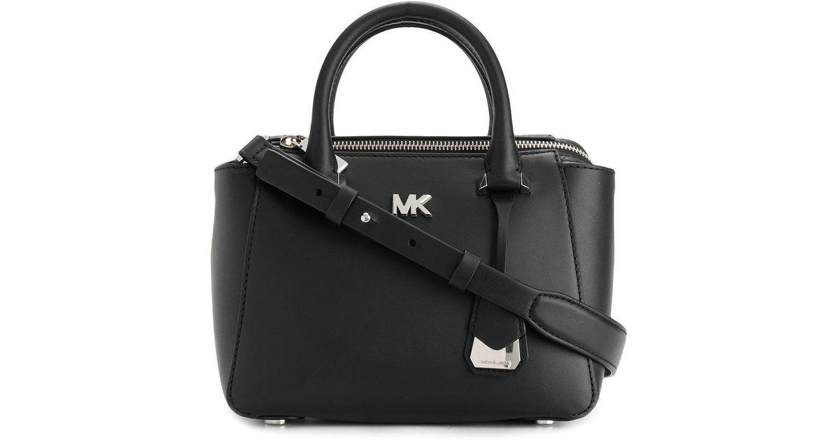 3fade83b8111 Michael Kors Mini Top Handle Tote Bag in Black - Lyst