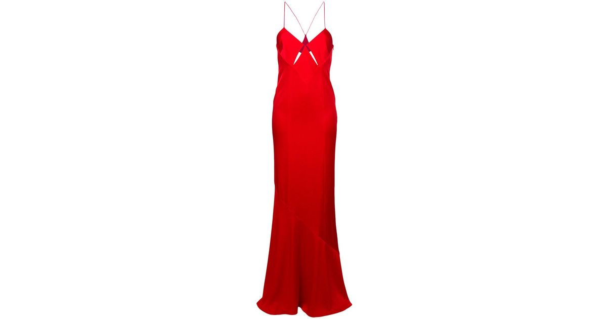 Professional  slit detail flared gown Galvan Cheap High Quality gUlCSp6F