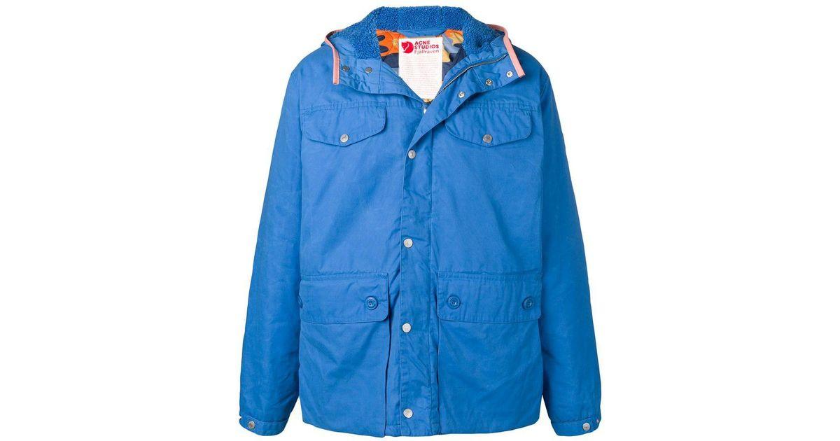 65442a04536 Acne Studios Acne Studio X Fjällräven Oversized Jacket in Blue for Men -  Lyst