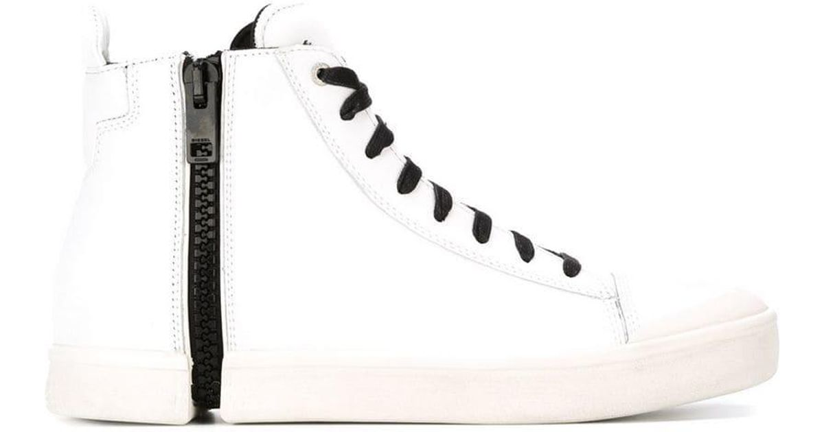 diesel nentish zip sneakers