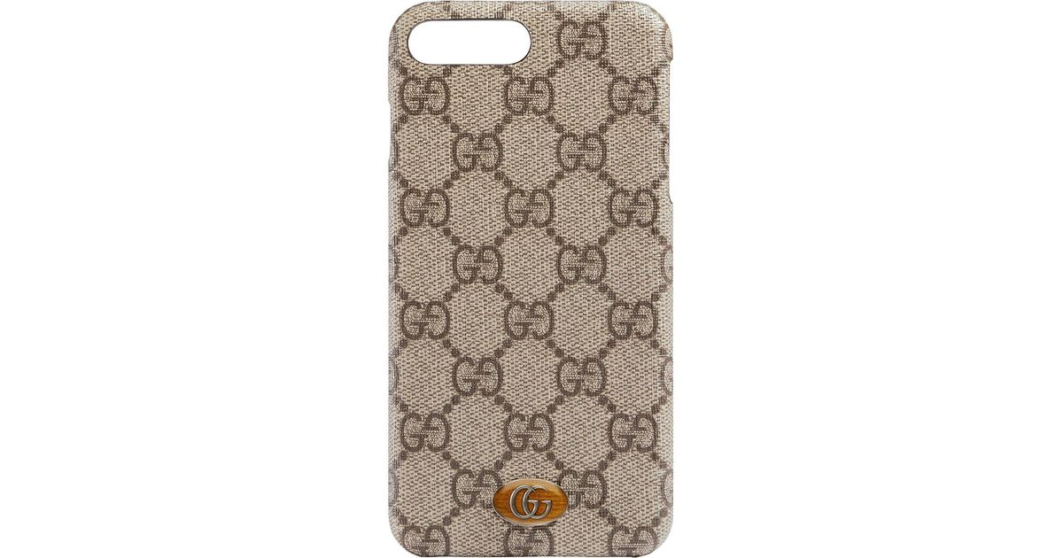 hot sale online 1cdb8 c3f21 Gucci Brown Ophidia Iphone 8 Plus Case