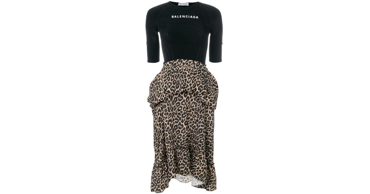b051648d933 Balenciaga Athletic Top Dress in Black - Lyst