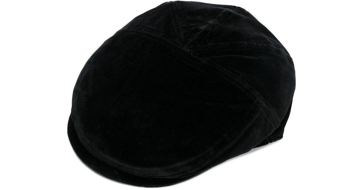 5c6fad37d91 Dolce   Gabbana Velvet Flat Cap in Black for Men - Lyst