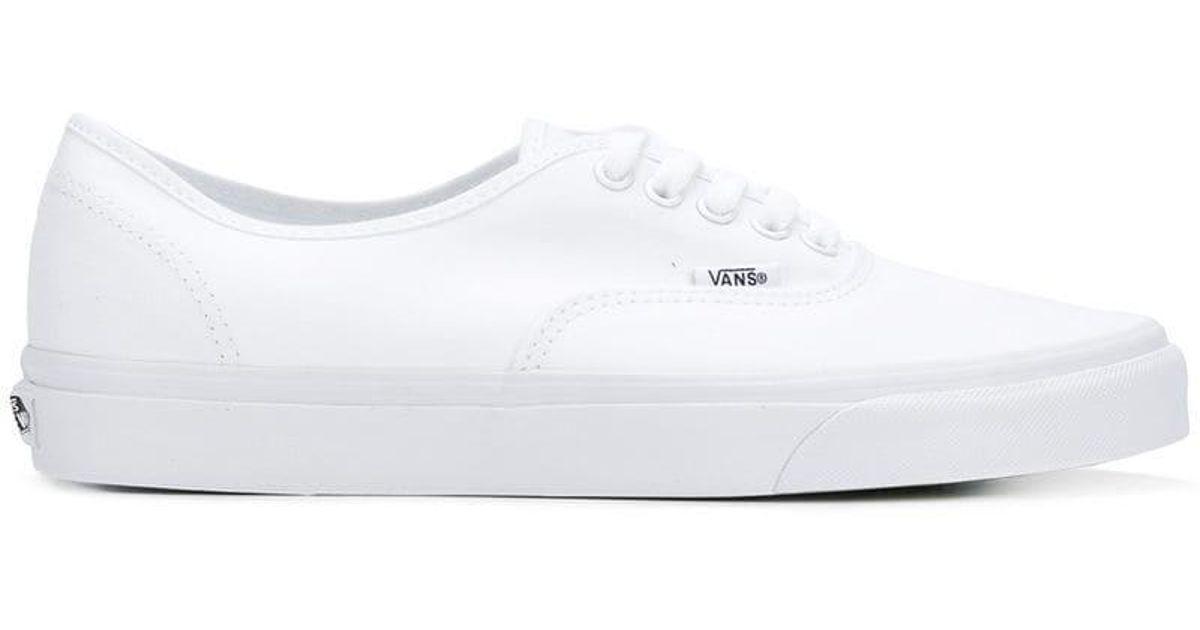 white low top vans