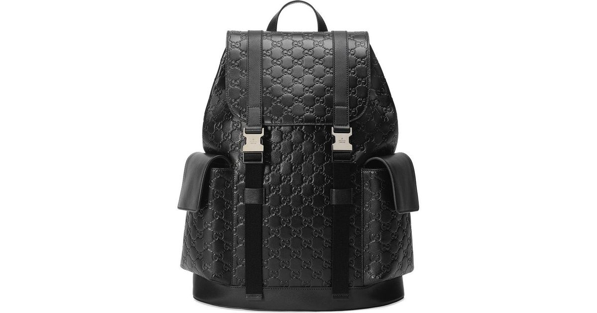 7ff8e7c1b44c Lyst - Gucci Signature Backpack in Black for Men