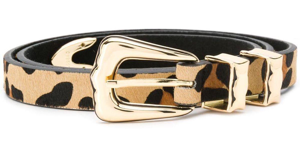 sito affidabile bf77f 049e5 Cintura leopardata di B-Low The Belt - Lyst