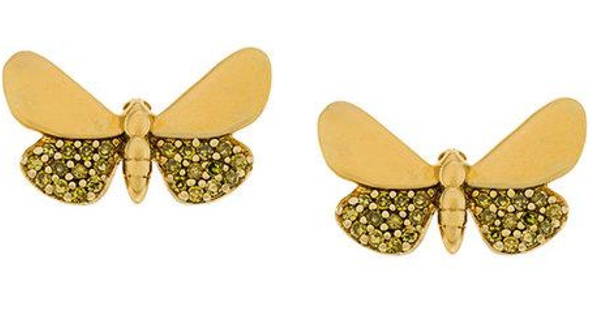 Astley Clarke 14kt gold and diamond Cinnabar Papilion earrings - Metallic 7cPxr7