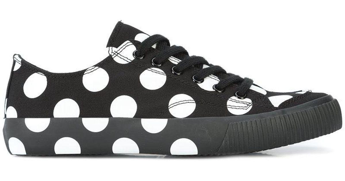 a914179b4 Lyst - Y s Yohji Yamamoto Y s Polka Dot Canvas Plimsoll in Black